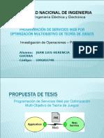 Presentación-Programación de Servicios Web por Optimización Multiobjetivo.ppt
