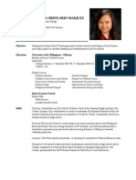Preciosa Angela Maiquez Resume (Teacher)