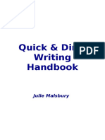 quick   dirty writing handbook