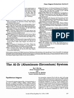 The AI-Zr (Aluminum-Zirconium) System