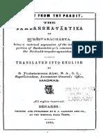 The Sambandha-Vartika of Suresvaracharya