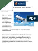 Benéfico para México acuerdo sobre transporte aéreo con EU_ expertos - Quadratín