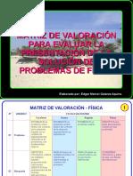Matriz de Valoracion en Fisica 4091
