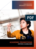 Academic Promotion Guidelines