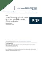 U.S. Nuclear Policy - the Fruits Failure and Future of Nuclear