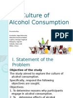 The Culture of Alcohol Consumption