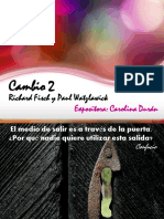 Cambio 2. RICHARD FISCH Y PAUL WATZLAWICK