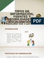 Tipos de Información, Fuentes y Posibilidades De
