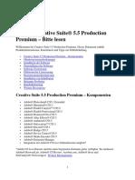 Creative Suite 5.5 Production Premium – Bitte Lesen
