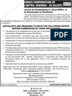 Elcot - Advt - Invitation of Applications