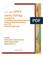 New Approaches to Learning Technology