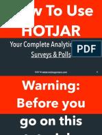 How To Use Hotjar (Survey & Polls)