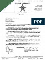 Rep. Combs' letter to President Harris, Speaker Budish, and Gov. Strickland