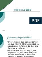 Introduccion a La Biblia 01