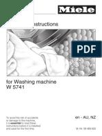 washing machine instructions