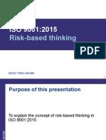ISO9001Risk Based Thinking