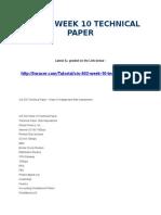 Cis 502 Week 10 Technical Paper