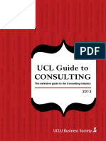 UCL Guide to Consulting 2013