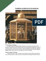 Maqam-e-ibraheem,Sacred Place in Makkah