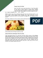 Analisa Modal Dan Keuntungan Usaha Nasi Uduk