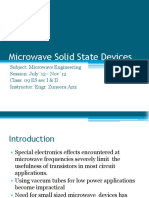 41-44 Lecture Microwave Solid State Devices