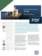 Deutsche Bank India Country Fact Sheet
