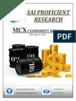 MCX Daily Report-Sai Proficient