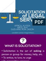 Group 3 - Solicitation of Legal Services