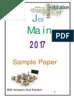 Jee main 2017 sample Paper