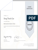 coursera excel certificate