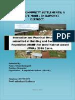 Rwanda Community Settlements-kamonyi