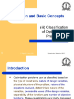 Classification of Optimization Problems
