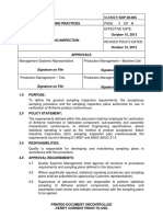 SOP 20-005 Sampling Inspection