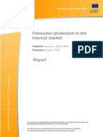 Consumer protection in the internal market