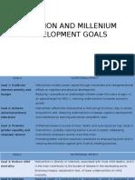Nutrition and Millennium Development Goals