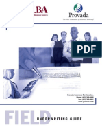 Life Insurance Field Underwriting Guide