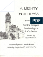 A Mighty Fortress Program