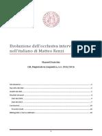 L'evoluzione dell'occlusiva intervocalica /t/ nell'italiano di Matteo Renzi