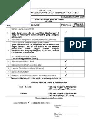 Contoh Surat Contoh Surat Cerai Talak 3