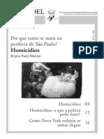 Por que tanto se mata na periferia de São Paulo?