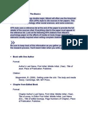 Apa Reference List Body Image Citation