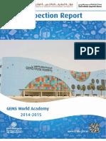 KHDA Gems World Academy 2014 2015