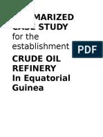 1. Summarized Case Study - Crude Oil Refinery