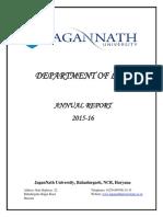 Annual Report Law Department, Jagan Nath University, Bahadurgarh