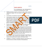 Notes and Important Points on Plant Growth - Biology - AIPMT - Simplylearnt
