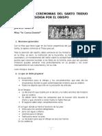 Guía Ceremonial Para El Santo Triduo Pascual Presidida Por El Obispo