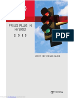 2013 Prius Plug-In Hybrid Quick Reference Guide