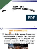 Sso - 301 Uso y Manejo de Ex Tint Ores