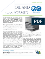 How Oil and Gas Formed, Monthly Article 1, SPE UI SC