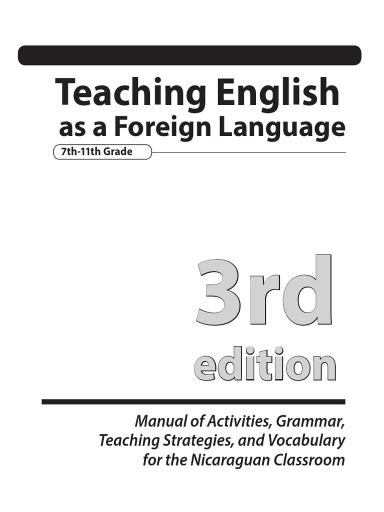 TEFL Manual 3rd Edition | Educational Assessment | Lesson Plan